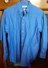 Mens BROOKS BROTHERS 16/33 100% Cotton Original Polo Blue Shirt Long Sleeve