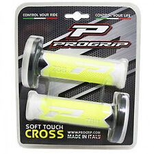 REVETEMENT POIGNEE PROGRIP OFF ROAD 788 TRIPLE DENSITE FLUO DESIGN BLANC-JAUNE