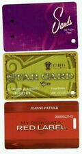 Casino Slot Card Lot of 3 - Resorts (Epic Level), Borgata, Sands - Atlantic City