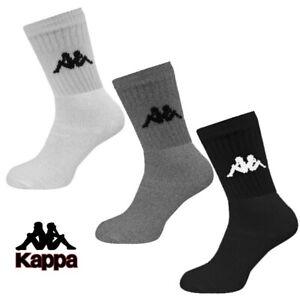 Kappa Socks 3 Pairs Mens Womens Crew Ankle Cotton Sports Sock Size UK 2-11