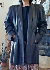Vintage Maxima Lamb Skin Leather Woman's SMALL Deep Brown Long Flare Coat