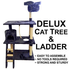 DELUXE LARGE CAT CORNER TREE Scratching Post Bed Gym House Toy Kitten Pet Perch