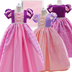 Girls Dress Wedding Princess Braidesmaid Party Birthday Flower Princess Pageant