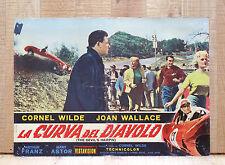 LA CURVA DEL DIAVOLO fotobusta poster The Devil's Hairpin Car Race Smash BV6