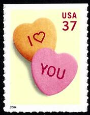 Scott #3833 37-Cent Candy LOVE Hearts Self-Adhesive Single - MNH