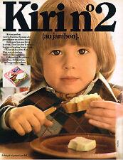 PUBLICITE ADVERTISING 024   1970   KIRI   fromage au jambon n°2