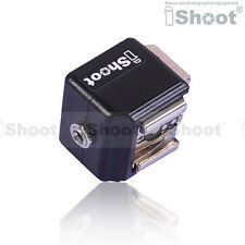 iShoot Double-Hot Shoe Mount Adapter Flash Trigger with 3.5mm PC SYNC Jack
