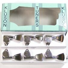 Kluson MLT33N Modern Top Locking Metal Tulip Tuners/machine Heads 3x3 Nickel