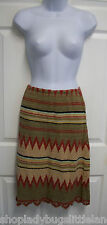 RALPH LAUREN SOUTHWESTERN INDIAN BLANKET LINEN COTTON BOHO CROCHET KNIT SKIRT S
