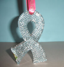 Waterford Crystal 2013 Hope Ribbon Christmas Ornament Breast Cancer Benefit New