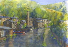 Hebden Bridge, Hand Signed, Titled and Mounted Print with COA