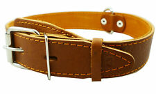 """Genuine Leather Dog Collar 20""""-25"""" neck 1.5"""" wide Pitbull, Mastiff Cane Corso"""