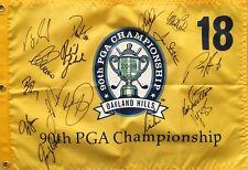 2008 PGA Championship golf flag signed auto Day Harrington Mickelson Trevino +12