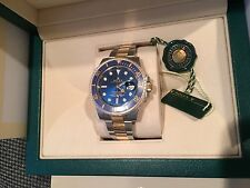 Rolex NIB 116613 40MM 18K/SS Submariner Date Blue Dial Box/Papers $13,400