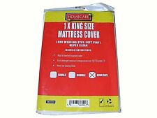 NEW FITTED MATTRESS PROTECTOR SHEET KING SIZE WATERPROOF VINYL