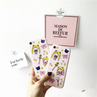 Cute Cartoon Sailor Moon Soft TPU Silicone Phone Case Cover For iphone 6 7 plus