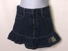 Gymboree Blue Flower & Frog Ruffle Jean Denim Skirt Skort Girls Sz 5?