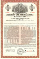 Madison Gas and Electric Company > Specimen Wisconsin 1991 bond certificate