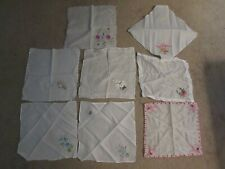 Vintage Embroidered Handkerchiefs - Lot of 8