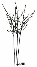 "39"" HEIGHT 3 STEM BLACK GLITTER TWIG ARTIFICIAL PLANT 96 LIGHTS HOME DECOR"