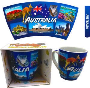 Australian Souvenir Coffee Mug Tea Mug Australian Icons 300ml MOA-MUG-14