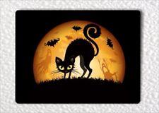 "HALLOWEEN NIGHT BLACK CAT & BATS FRIDGE MAGNET 3"" x 4""-fbn7Z"