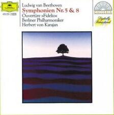 """12"""" Beethoven Symphonien Nr. 5 & 8 Herbert von Karajan (Overtüre """"Fidelio"""") DGG"""