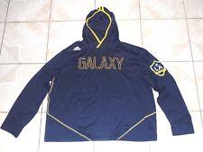 Adidas Los Angeles Galaxy Soccer Hoodie Pullover Jacket Sewn Logo Xtra Large