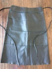 Illia Butter Soft Black Leather Patchwork Skirt Made In USA Size Medium