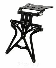 Portatarga regolabile Aero-X porta targa moto nero attacco piatto 290 grammi