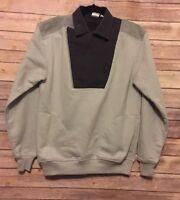 Greenline Men's Sweatshirt Sz M Pullover Bib Front Gray