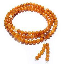 Genuine Baltic Amber Buddhist Mala Bracelet Mila 108 Beads 6 - 7 mm Prayer
