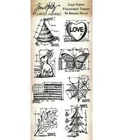 Tim Holtz Rubber Stamps - Butterfly, Autumn Leaf, Christmas Tree, Easter Bunny