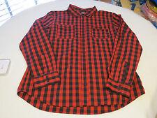 Nike SB Skateboarding 2XL XXL long sleeve button shirt 811827 red black 010
