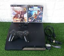 Sony PlayStation 3 PS3 Slim 320GB Console CECH-2503B + Games *TESTED & WORKING*