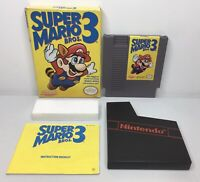 NES Super Mario Bros. 3 Complete in Box CIB *Authentic/Cleaned/Tested* #3