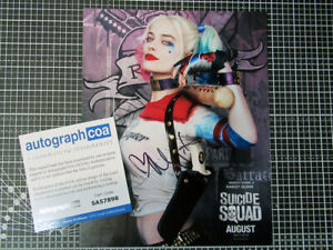 Margot Robbie 8x10 photo signed autograph Harley Quinn ACOA certificate