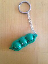 Handmade Polymer Clay Cute Kawaii Peas In A Pod Keychain