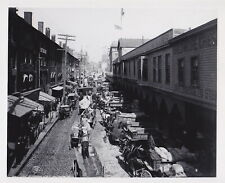 BALTIMORE MARYLAND * LIGHT STREET * Businesses SIGNS Traffic * RARE 1906 photo