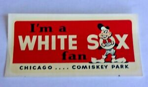 Vintage Original 1950's Chicago White Sox Window Cling-On Sticker Unused