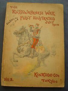 MILITARIA-GUERRA-THE RUSSO-JAPANESE WAR-FULLY ILLUSTRATED-N.3-TOKYO 1904-RARO