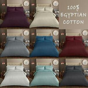 500TC Duvet Cover Set Luxurious Woven 100% Egyptian Cotton and Fitted Sheets