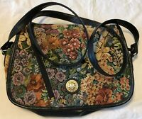 Mitzi Floral Tapestry Multi Color Handbag Purse Flowered