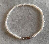 Mini Perle Armband,2-3 mm weiß Barock Perle Armband, 18 cm
