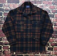 Vintage 60s Pendleton Jacket Mackinaw Wool Flannel Cruiser Mens L Large Jacket