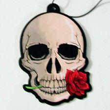 Cráneo Gótico & Rose Ambientador Coche Hogar Van Novedad Colgante Freshner