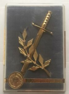 Mini DDR Ehrendolch Offizier Ehrengeschenk 25 Jahre treue Dienste NVA im Schuber