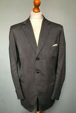 Vintage Bespoke 1930's 1960's grey single breasted suit size 42 long