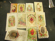 11 anciennes images religieuses pieuses canivet holly card