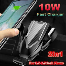 Automatic Clamping Wireless Charging Car Charger Mount Air Vent Phone Holder